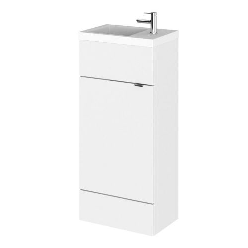 Elite White Gloss 400mm Compact Vanity Unit & Basin